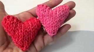 Как сплести СЕРДЦЕ 3d, из резиночек rainbow loom, heart 3d, урок 18(Подписчики Rainbow Loom Russia Вконтакте: http://vk.com/raduzki1 ПРИСОЕДИНЯЙТЕСЬ!!! ☀ Купить наборы для плетения: http://rainbowloomba..., 2015-01-13T16:23:28.000Z)