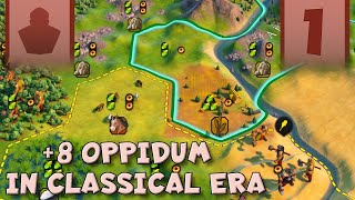 Civ 6 Gaul Deity Gameplay - +8 Oppidum in Classical Era is Balanced - Part 1