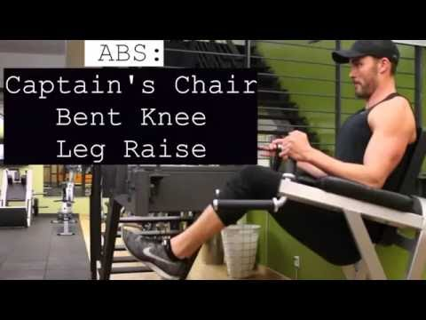 ABS Captain's Chair Bent Knee Leg Raise