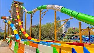 Water Slides at Al Montazah Water Park in Sharjah, UAE