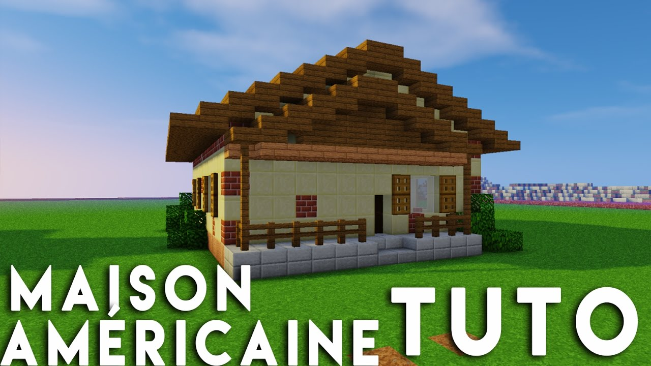 minecraft tuto construction maison am ricaine youtube. Black Bedroom Furniture Sets. Home Design Ideas