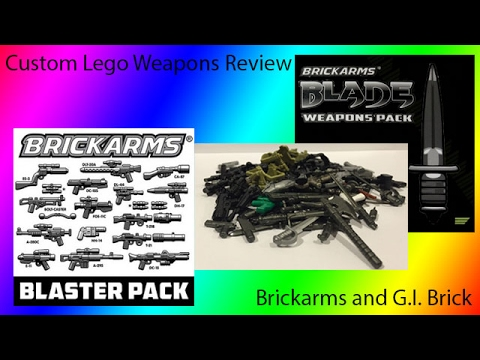 Custom Lego Weapons Review: G.I. Brick Brickarms Weapons Part 1