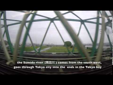 Narita to Yokohama via Express train - time lapse