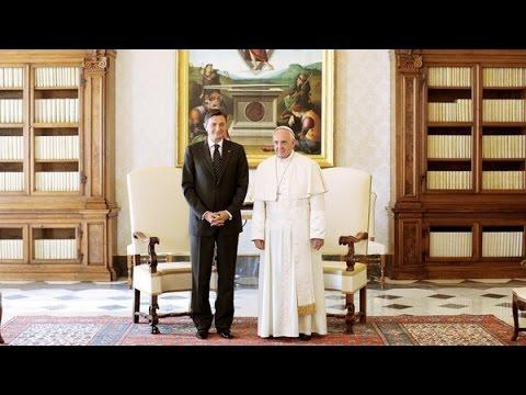 Papež Frančišek je v avdienco sprejel predsednika Boruta Pahorja