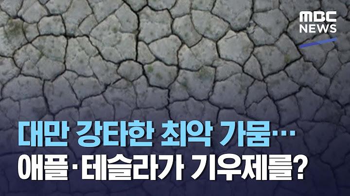 대만 강타한 최악 가뭄…애플·테슬라가 기우제를? (2021.05.04/뉴스데스크/MBC)