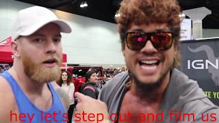 Kenny ko gets EXPOSED by Brad Castleberry and Jon Skywalker at LA fit expo 2019. Embarrassing!