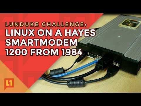 A baudy Linux Hack: Hayes Modem modded to Linux Desktop (and modem time machine).