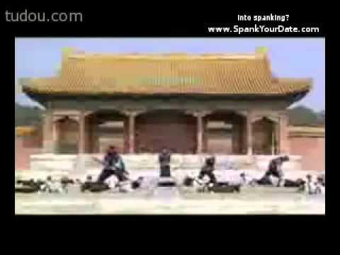 Asian paddling / corporal punish scene