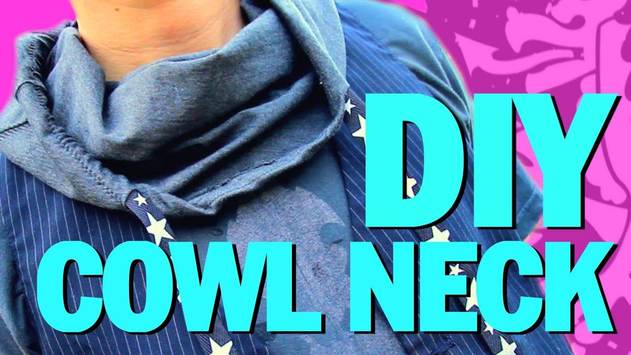 COWL NECK T SHIRT DIY !!! Threadbanger - YouTube