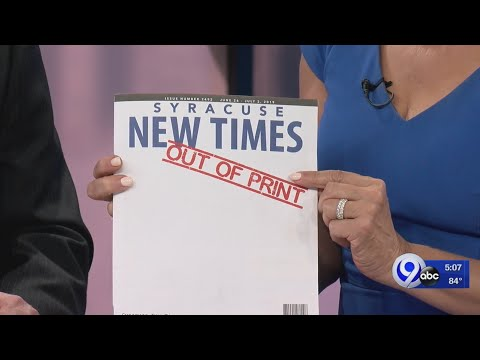 Last Edition Of Syracuse New Times Printed