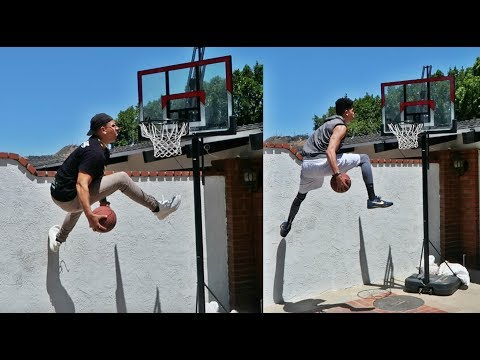 IMPOSSIBLE BASKETBALL TRICK SHOTS WITH WOLFIE AND KRISTOPHER