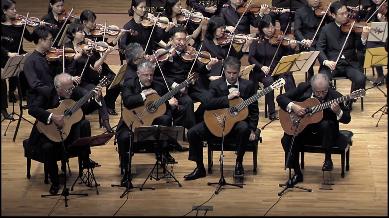 [Los ROMEROS] J. RODRIGO Concierto ANDALUZ for Four Guitars and Orchester