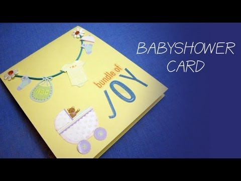 how to make a simple baby shower money gift card for a boy ep
