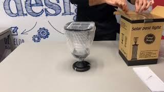 GOG-09 - מנורת חומה מודרנית