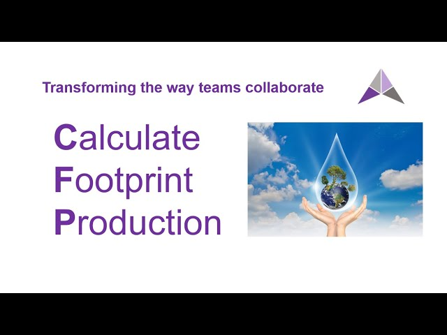 Calculate Footprint (Production) Tutorial