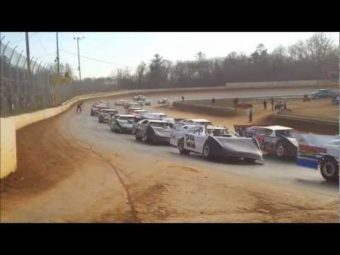 Cabin Fever 2-9-13 DVD Demo - Super Late Model Race at Boyds Speedway - Speedway In-Car Cams