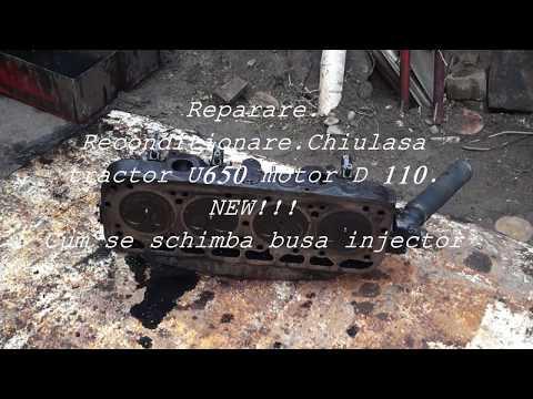 NEW!!! CUM SE SCHIMBA  BUCSE INJECTOR DEFECTA - MOTOR - D 110, TRACTOR U650 M
