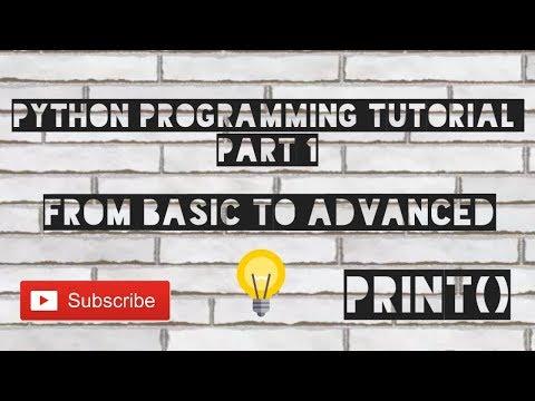 #1 Python Programming Tutorial | print() method | Rahul Arya thumbnail