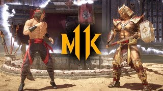 Mortal Kombat 11 - Liu Kang vs. Shao Kahn (VERY HARD)