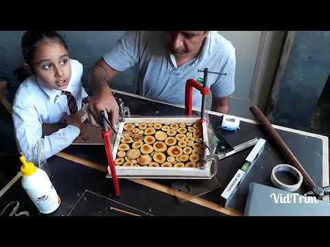 Making Epoxy Resin and Wood Wall Art (key holder) by tarkhan malout