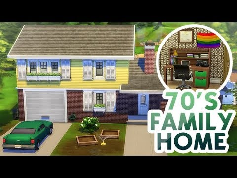 1970'S FAMILY HOME 💚✌️ | THE SIMS 4 thumbnail