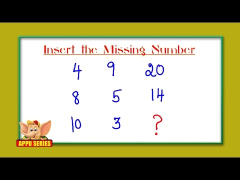 Test Your IQ - Find The Missing Number?