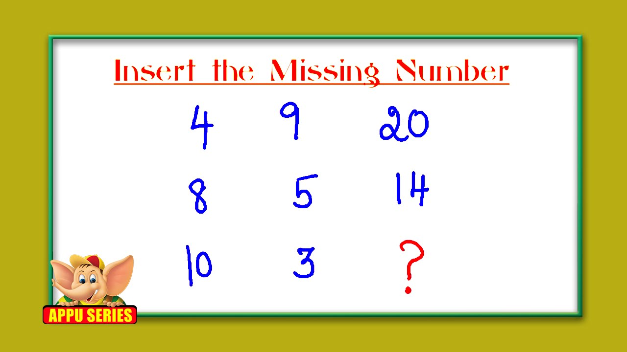 Test Your Iq Find The Missing Number Youtube Alphanet Experiment 4 Parallel Circuit