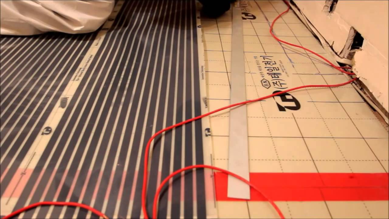 How to make an infrared floor heating do it yourself: installation and connection of the film floor 38