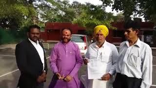 Samaj adhikar kalyan party Punjab Derabassi me ALM meat plant murda bad hey hey