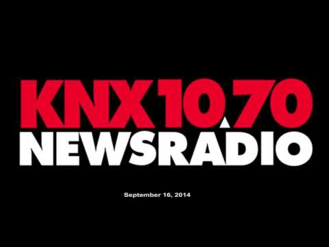 Interview with KNX AM 1070 News Radio in Los Angeles. 9/16/2014