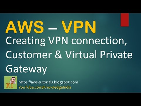 AWS - Creating VPN connection DEMO - Customer & Virtual Private