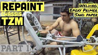 Yamaha TZM Repaint Chassis  Part 1