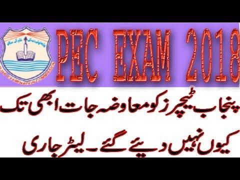 PEC Exam 2018 School Education Punjab Teachers Duty Payment Online