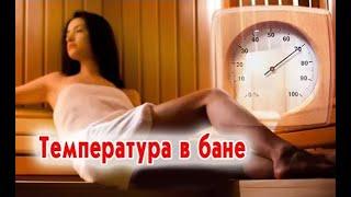Оптимальная температура в бане и сауне: сколько должно быть градусов? (видео)