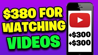 EARN $380 FOR FREE WATCHING YOUTUBE VIDEOS *New Website* [Make Money Online]