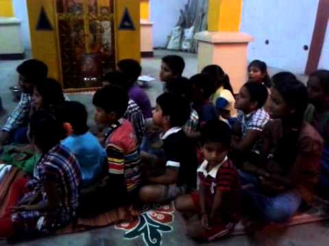 Hanuman bhajan by small kids in our colony temple