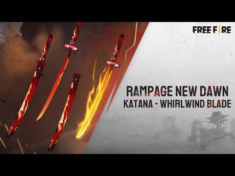 Rampage New Dawn Katana Skin - Whirlwind Blade   Garena Free Fire