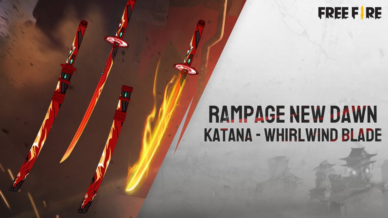 Rampage New Dawn Katana Skin - Whirlwind Blade | Garena Free Fire