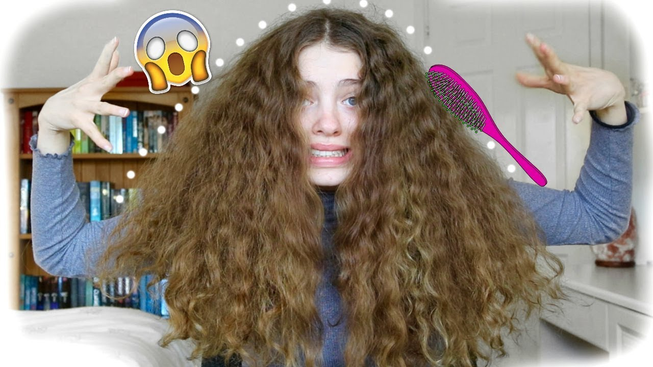 What It Looks Like To Brush Out Thick Curly Hair