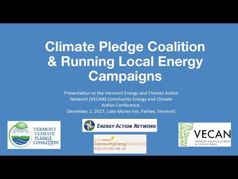 VECAN 2017 Conference - Climate Pledge Coalition and Running
