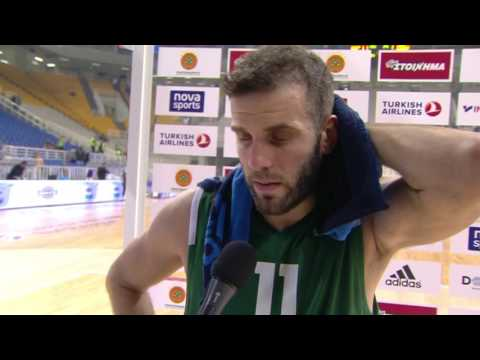 Post-game interview: Nikos Pappas, Panathinaikos Superfoods Athens