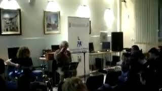 Славко Јовановиќ во Градската библиотека во Руми