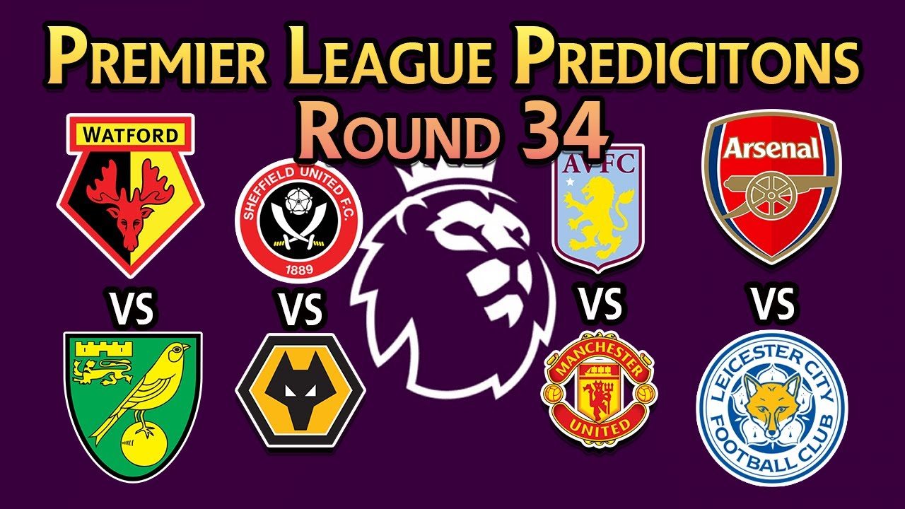 Premier League Predictions | ROUND 34 | Villa vs Man Utd | Man City vs Newcastle | BHAFC v Liverpool