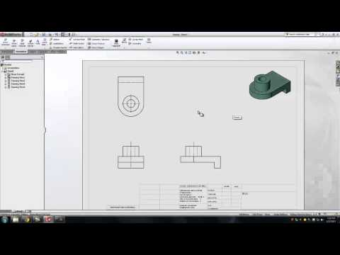 Solidworks: Creating Orthographic Drawings