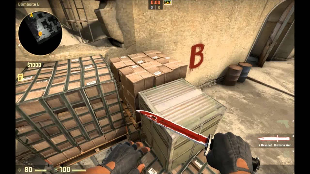 cs go bayonet crimson web field tested youtube. Black Bedroom Furniture Sets. Home Design Ideas