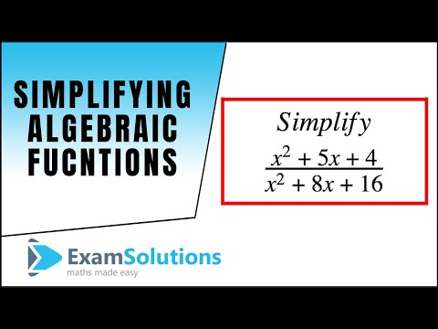 Algebraic Fractions : Simplifying a fraction : ExamSolutions