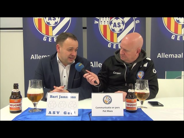 ASV Geel - RFC Luik   persbabbel 16-2-2019