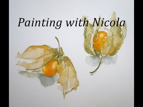 Paint these cape gooseberries and build your self confidence by NOT drawing first.