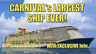 EXCLUSIVE: New Carnival XL Class Ship Announcement & On-Board Entyertainment