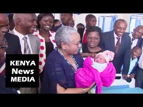 Margaret Kenyatta TOURS Makueni Hospital during OFFICIAL OPENING!!!